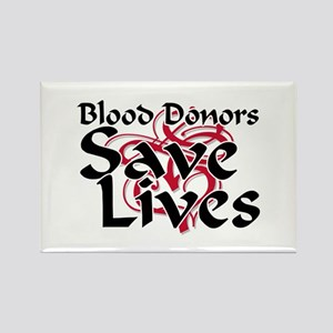 Blood Donors Save Lives Rectangle Magnet
