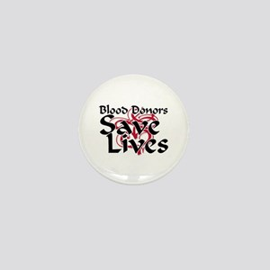 Blood Donors Save Lives Mini Button