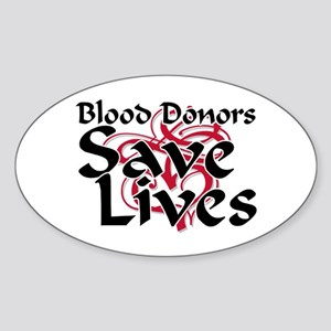 Blood Donors Save Lives Oval Sticker