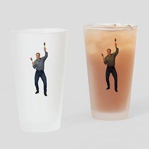 Elon Musk celebrating in 2002 Drinking Glass
