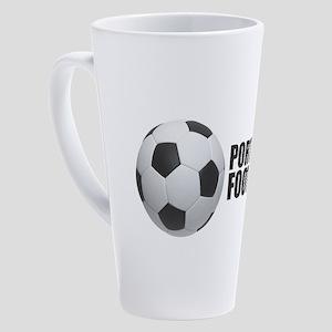 Portugal Football 17 oz Latte Mug