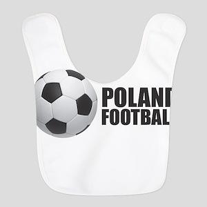 Poland Football Polyester Baby Bib