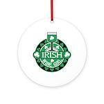 Irish Wine Girl Ornament (Round)
