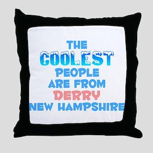 Coolest: Derry, NH Throw Pillow