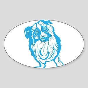 Australian Shepherd Oval Sticker
