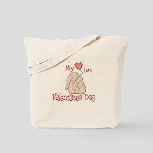 Baby's 1st Valentine's Day Tote Bag