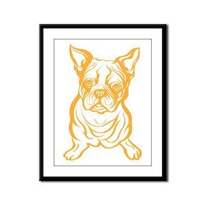 Boston Terrier Framed Panel Print
