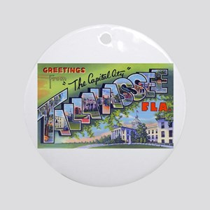 Tallahassee Florida Greetings Ornament (Round)
