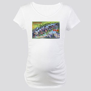 Tallahassee Florida Greetings (Front) Maternity T-
