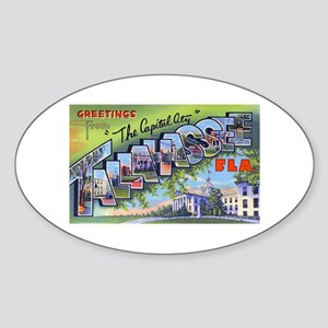 Tallahassee Florida Greetings Oval Sticker