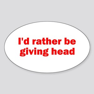 Giving Head Oval Sticker