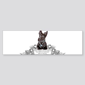 Scottish Terrier Friend Bumper Sticker