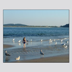 Girl with Seagulls - Small Poster