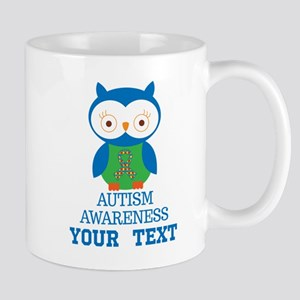 Autism Awareness Owl Personalized Mugs