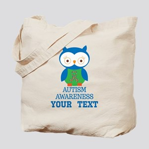 Autism Awareness Owl Personalized Tote Bag