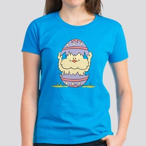 Easter Chick and Egg Women's Dark T-Shirt