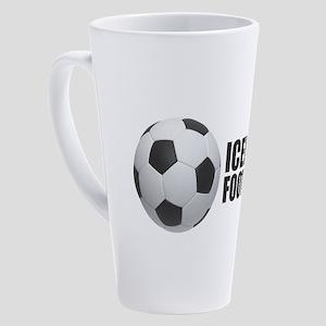 Iceland Football 17 oz Latte Mug