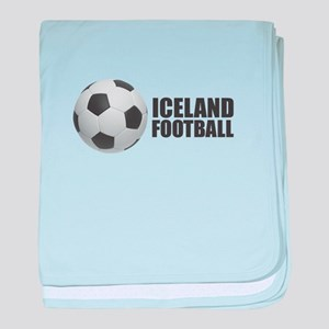 Iceland Football baby blanket