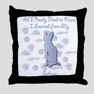 Learned Sphynx Throw Pillow
