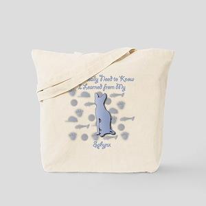Learned Sphynx Tote Bag