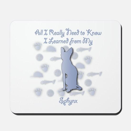 Learned Sphynx Mousepad