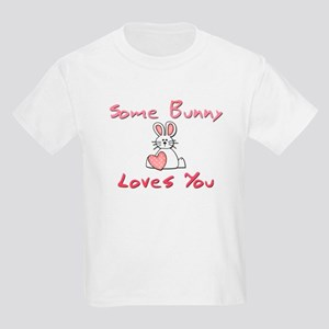 Some Bunny Loves You Kids Light T-Shirt
