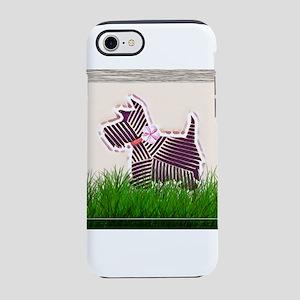 Scottish terrier in grass iPhone 8/7 Tough Case