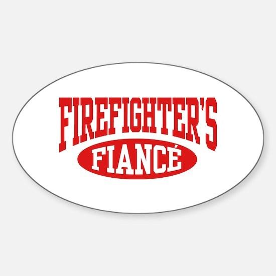 Firefighter's Fiance Sticker (Oval)