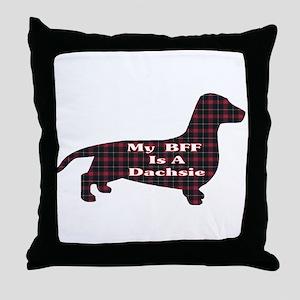 BFF Dachshund Throw Pillow