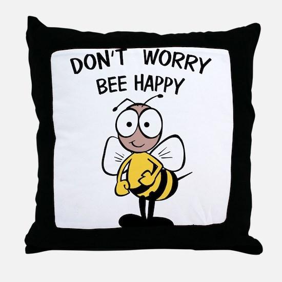 DON'T WORRY Throw Pillow