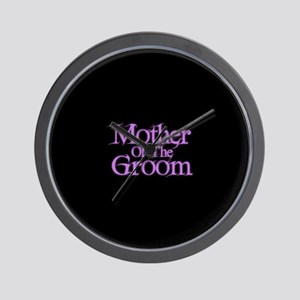 Mother Of The Groom - Pink Fa Wall Clock
