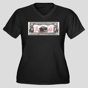 Buffalo Money Women's Plus Size V-Neck Dark T-Shir