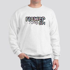Flower Girl - Bubbles & Heart Sweatshirt