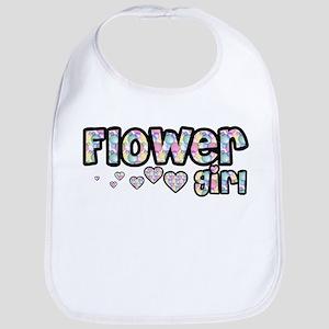 Flower Girl - Bubbles & Heart Bib
