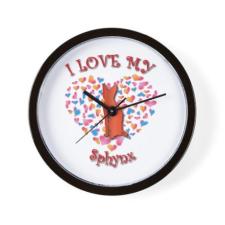 Love My Sphynx Wall Clock