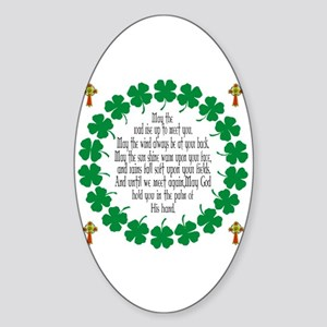 Irish Prayer Blessing Oval Sticker
