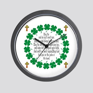 Irish Prayer Blessing Wall Clock