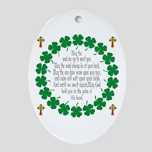 Irish Prayer Blessing Oval Ornament