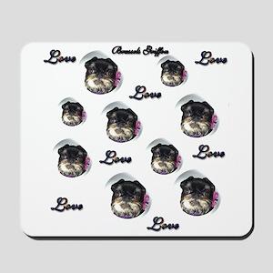 Brussels Griffon Love Mousepad