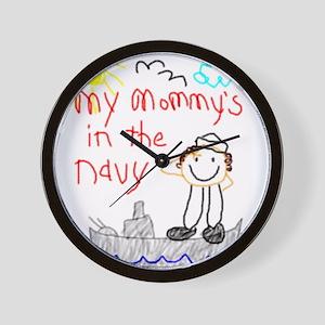 Navy Mommy! Wall Clock