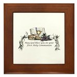 1st Communion Framed Tile