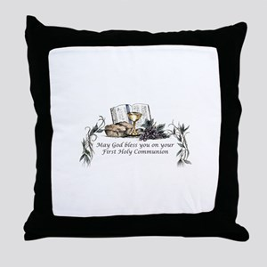 1st Communion Throw Pillow