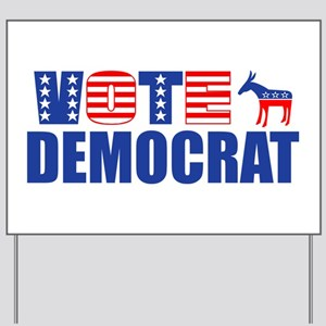 Vote Democrat (Stars & Stripes) Yard Sign