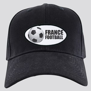 France Football Black Cap with Patch