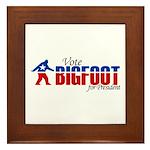 Vote for Bigfoot Framed Tile