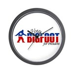 Vote for Bigfoot Wall Clock