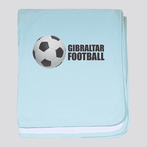 Gibraltar Football baby blanket