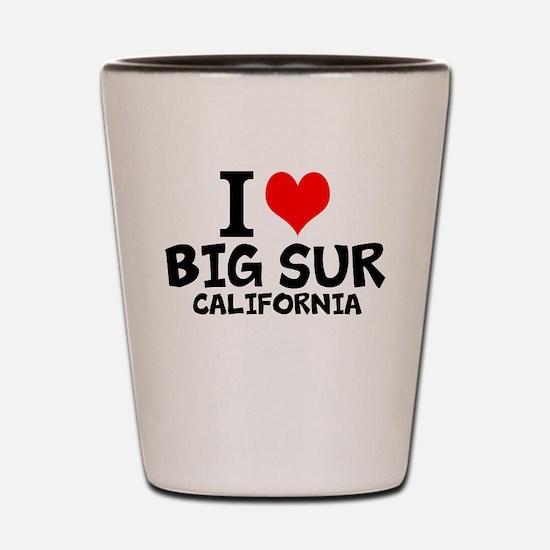 I Love Big Sur, California Shot Glass