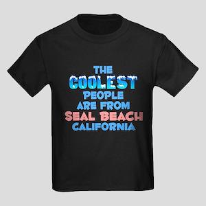 Coolest: Seal Beach, CA Kids Dark T-Shirt