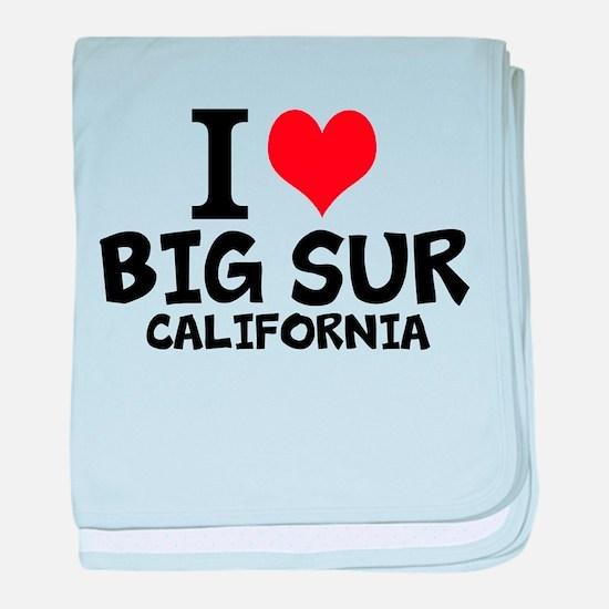 I Love Big Sur, California baby blanket